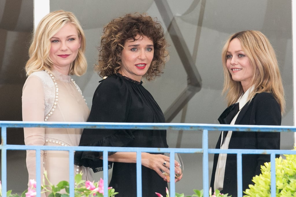 She Met Up With Valeria Golino and Vanessa Paradis, Who Wore a Chanel Pussy-Bow Blouse