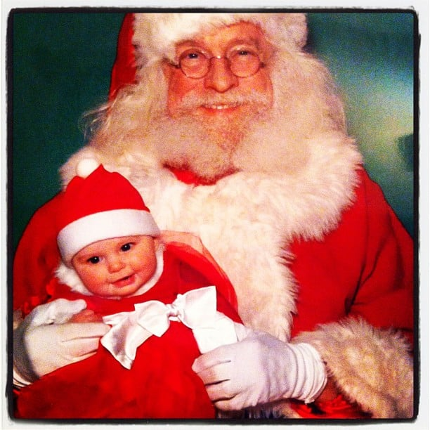 """""""Ho ho!"""" — this little one knew to dress for the occasion!  Source: Instagram user vivigraysmom"""