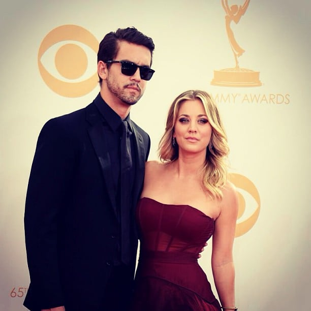 """Kaley had her """"main man"""" by her side on the Emmys red carpet.  Source: Instagram user Norman Cook"""
