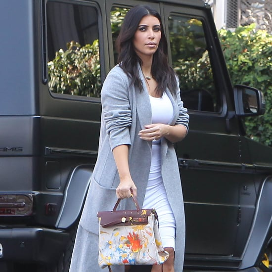 Photos of Kim Kardashian's Hermès Bag Painted by North West