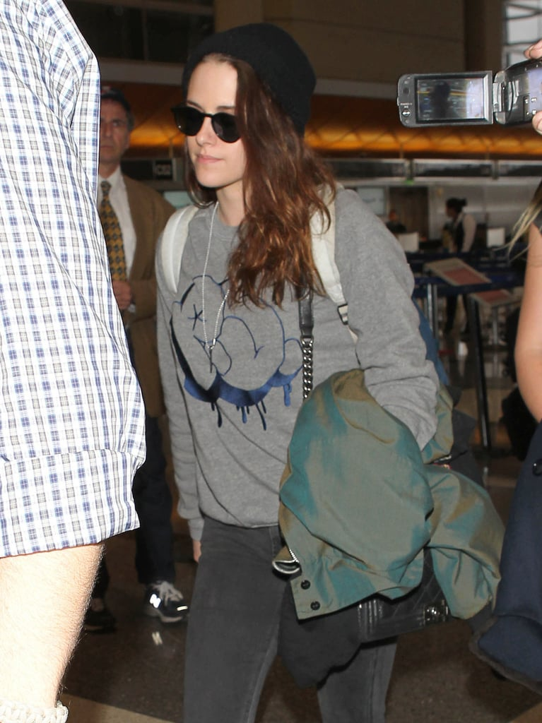 Kristen Stewart Heads Straight to Chanel After Landing in Paris