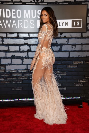 Ciara-struck-over--shoulder-pose-VMAs-red-carpet