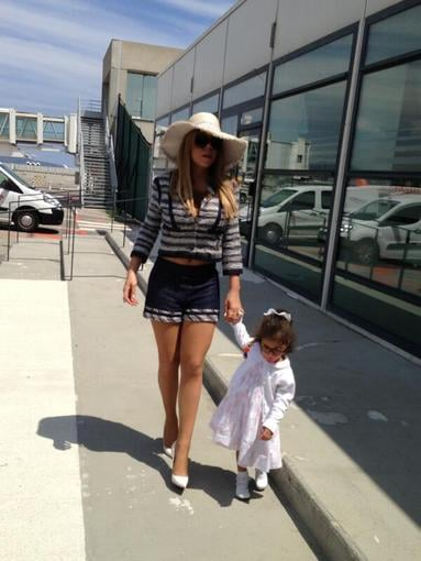 Mariah Carey and daughter Monroe made a stylish arrival in France. Source: Twitter user MariahCarey