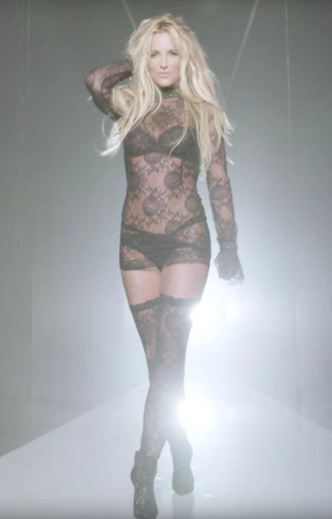 Black Lace Dress Britney Spears 18