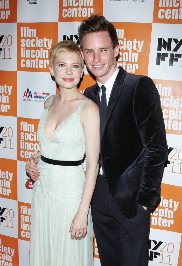 Michelle Williams and Eddie Redmayne posed for cameras at the New York Film Festival.