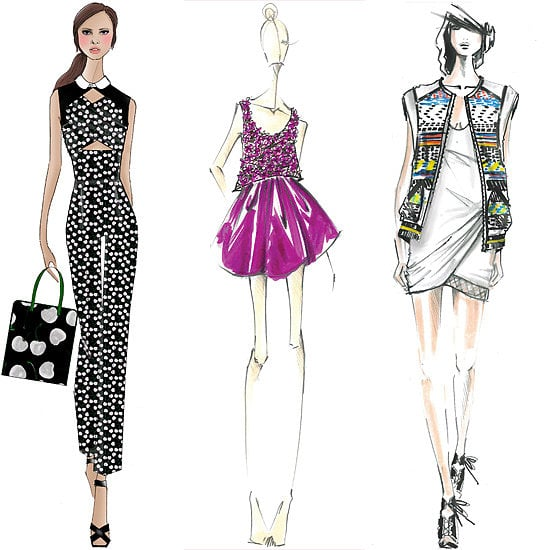 The only thing more beautiful than the collections might be the designers' sketches.