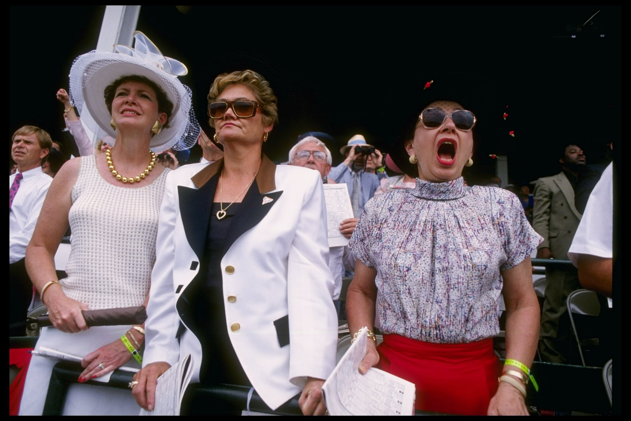Fans watched with their hats firmly on their heads in 1993.