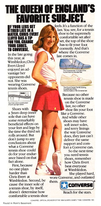 This Wimbledon star thanks her Converse for her win.