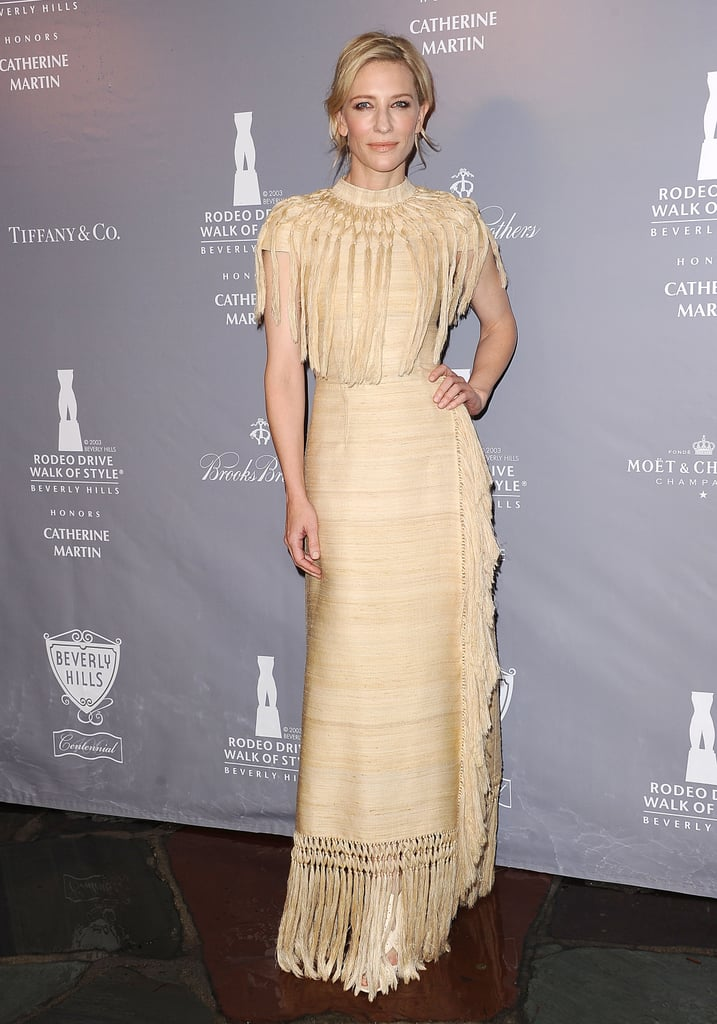 Cate Blanchett in Fringed Valentino at the 2014 Rodeo Drive Walk of Style Awards