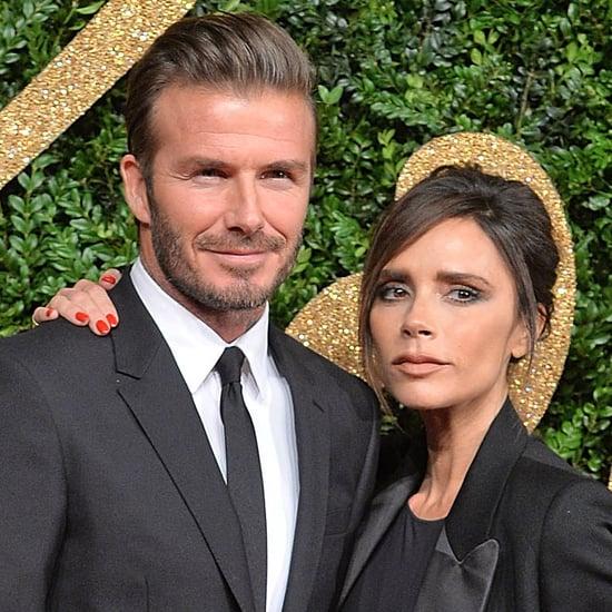 David and Victoria Beckham British Fashion Awards 2015