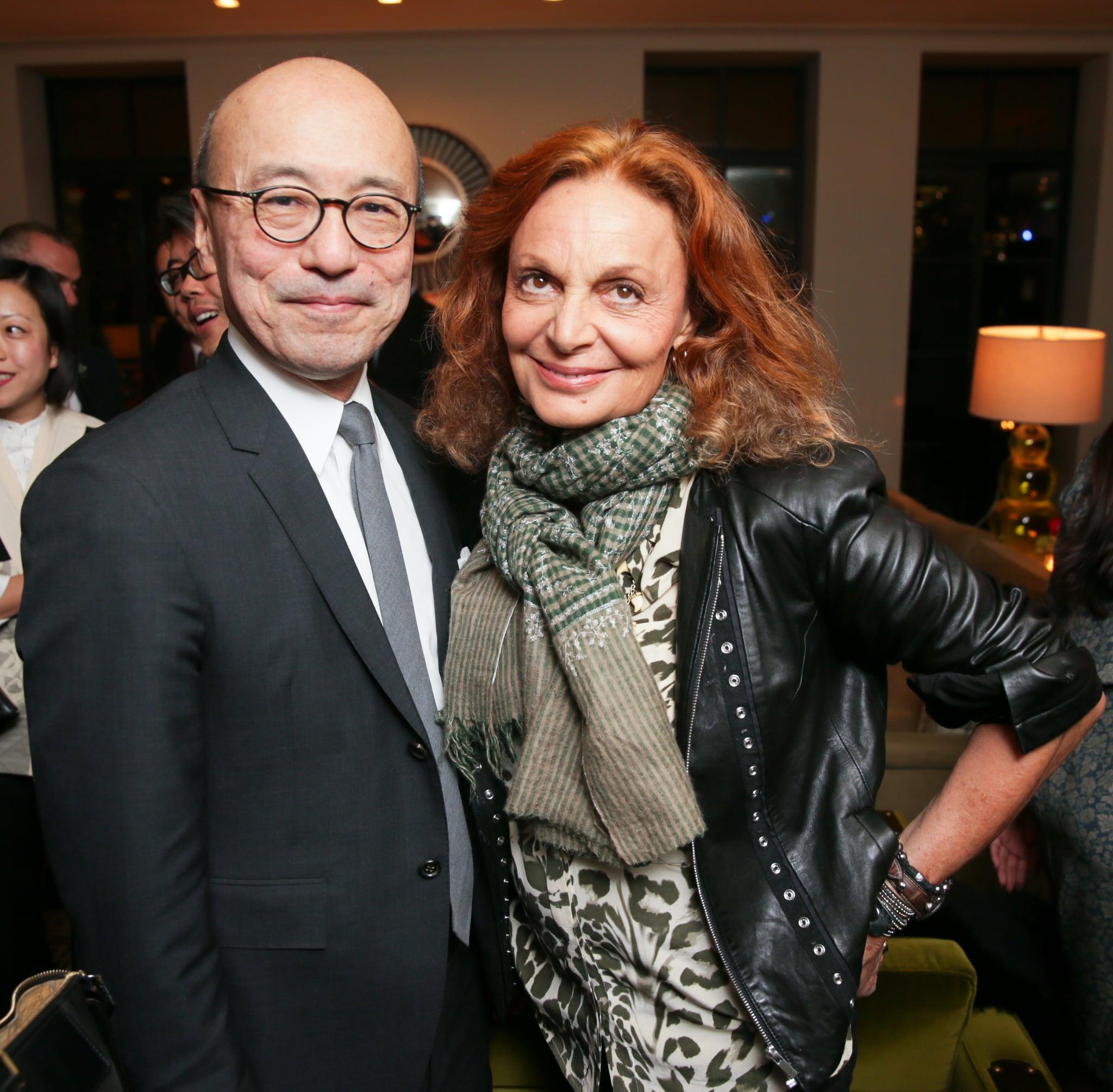 Harold Koda and Diane von Furstenberg