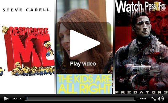 Video Movie Reviews For Despicable Me, The Kids Are All Right, and Predators