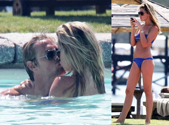 PIctures of Abbey Clancy in a Bikini on the Beach in Sardinia With Shirtless Fiance Peter Crouch