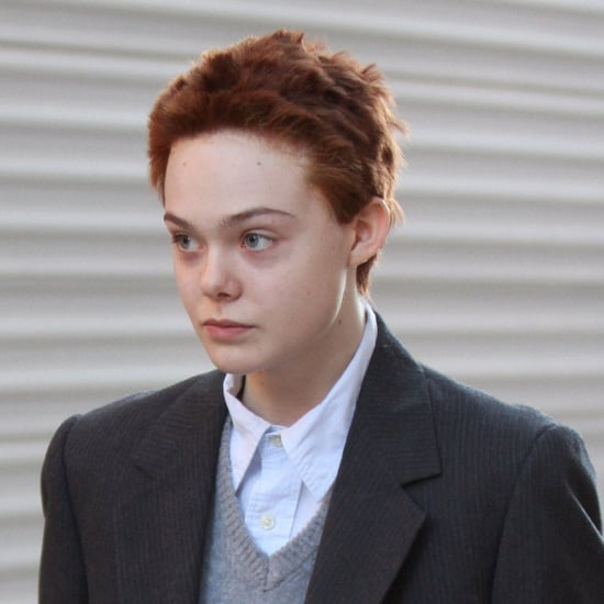 Elle Fanning With Short Red Hair 2014