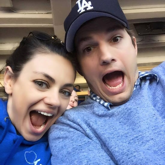 Ashton Kutcher and Mila Kunis Photobomb at Baseball Game