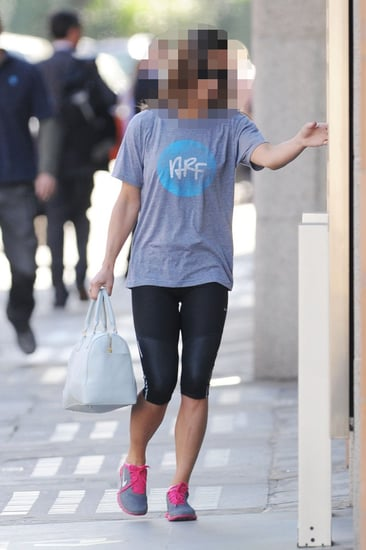 Guess Which Famous Brit Was Headed to the Gym?