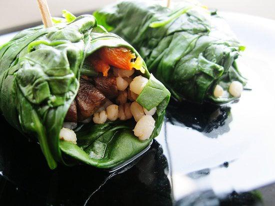 Spinach Veggie Wraps