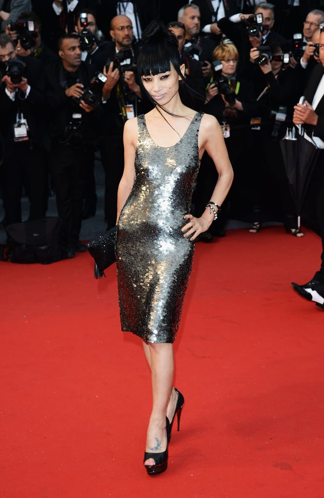 Bai Ling wore a shimmering dress at the Cannes Film Festival Opening Ceremony.