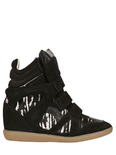 Isabel Marant - 55mm Benett Suede And Ponyskin Sneakers