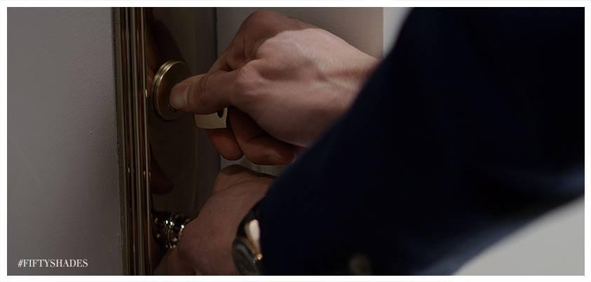 Christian opens the door . . .