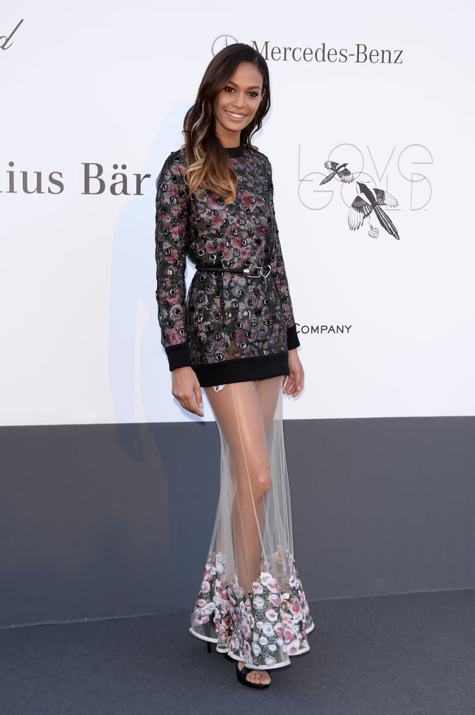 Joan Smalls wore Fall 2013 Givenchy at amfAR's 20th Annual Cinema Against AIDS gala in Cannes.