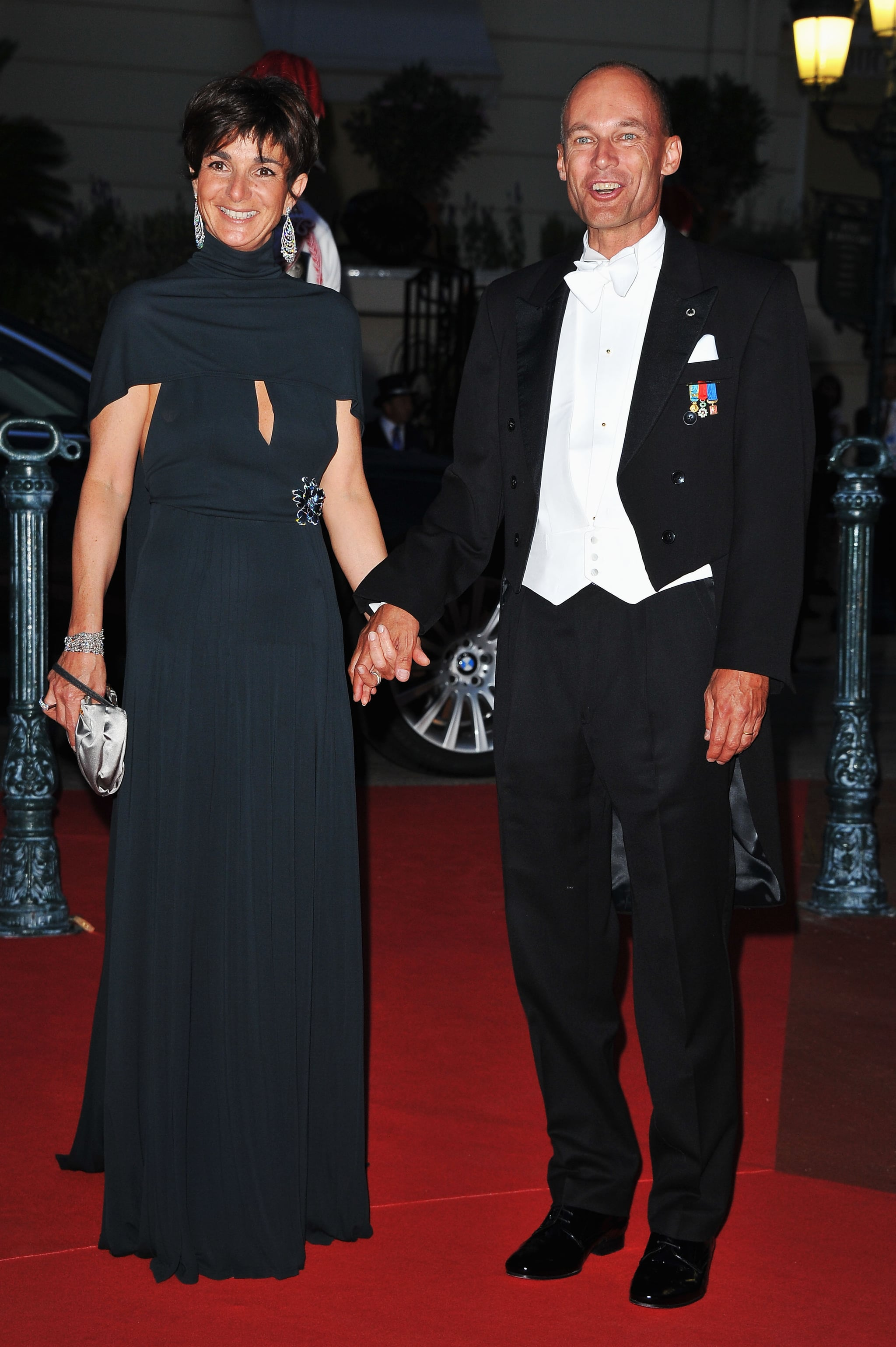 Bertrand Piccard with his wife, Michelle, attended a dinner at Opera terraces after the religious wedding ceremony of Prince Albert II of Monaco and Princess Charlene of Monaco.
