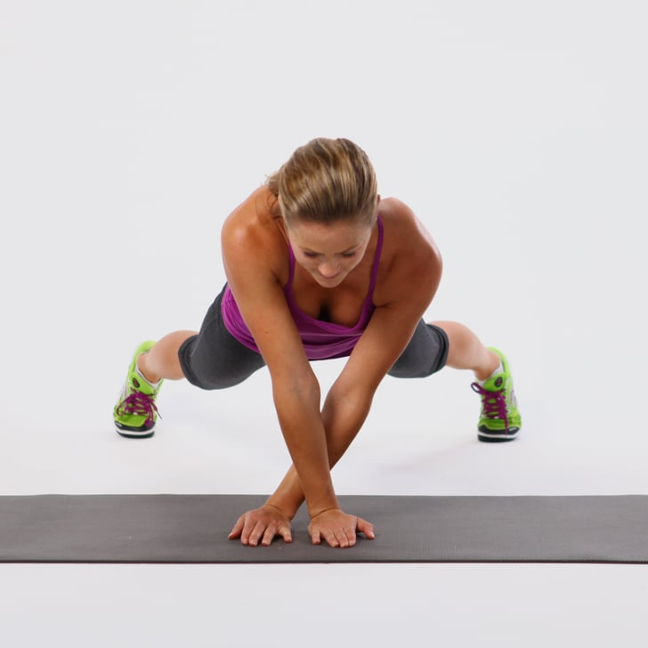Plank Side Walk Core Exercise | GIF | POPSUGAR Fitness