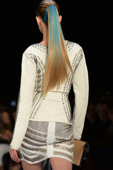 Want to Know How to Get the Bright Ponytails at Hervé Léger?