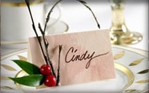 Cranberry Decorating Part I: Place Cards