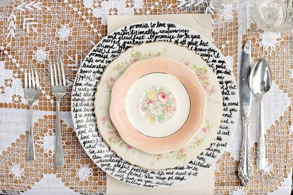 Handwritten Plates