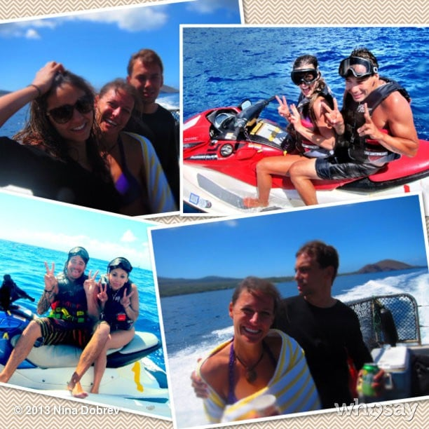 Nina Dobrev and her friends got in on some water skiing action. Source: Nina Dobrev on WhoSay