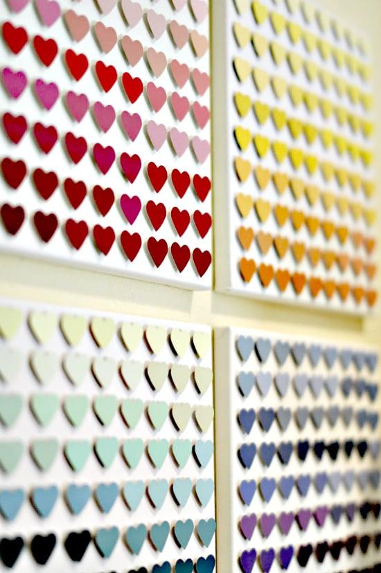 Paint Chip Heart Art