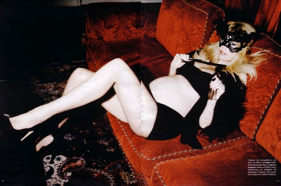 A Further Look into Claudia Schiffer's Bump-Filled Crop of Vogue Germany Editorials