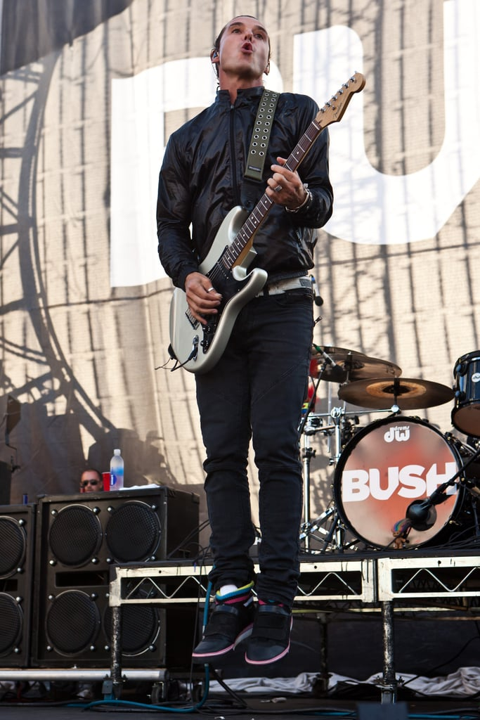 Gavin Rossdale and Bush played during the Sunset Music Festival in LA Saturday.