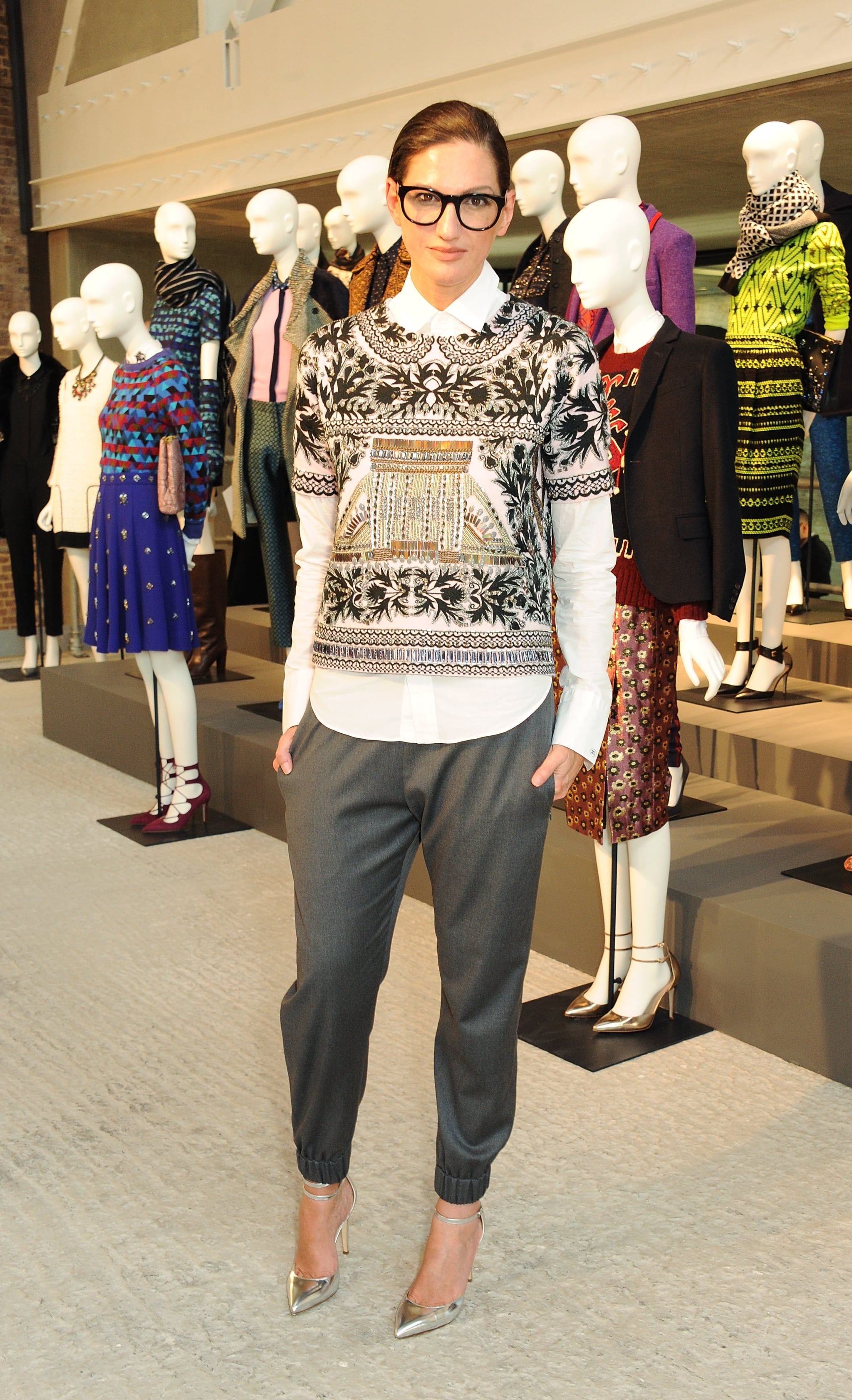 Proving her style translates worldwide, she picked a professional layered look for a London event.