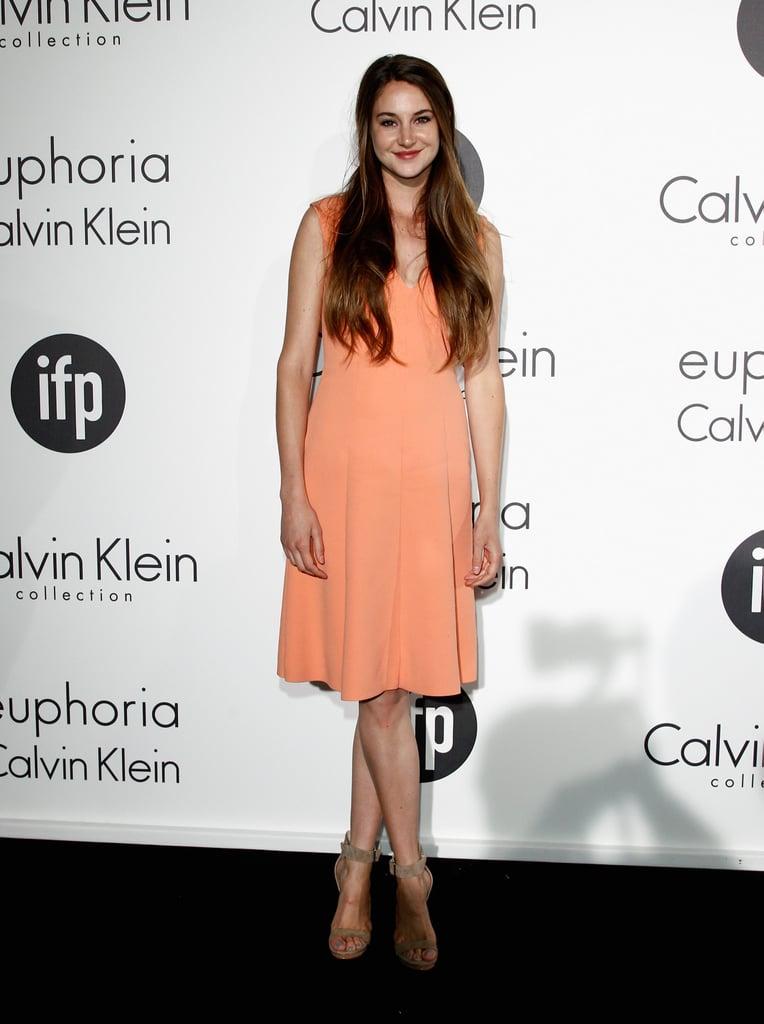 Shailene Woodley in Calvin Klein at the 2012 Cannes Film Festival