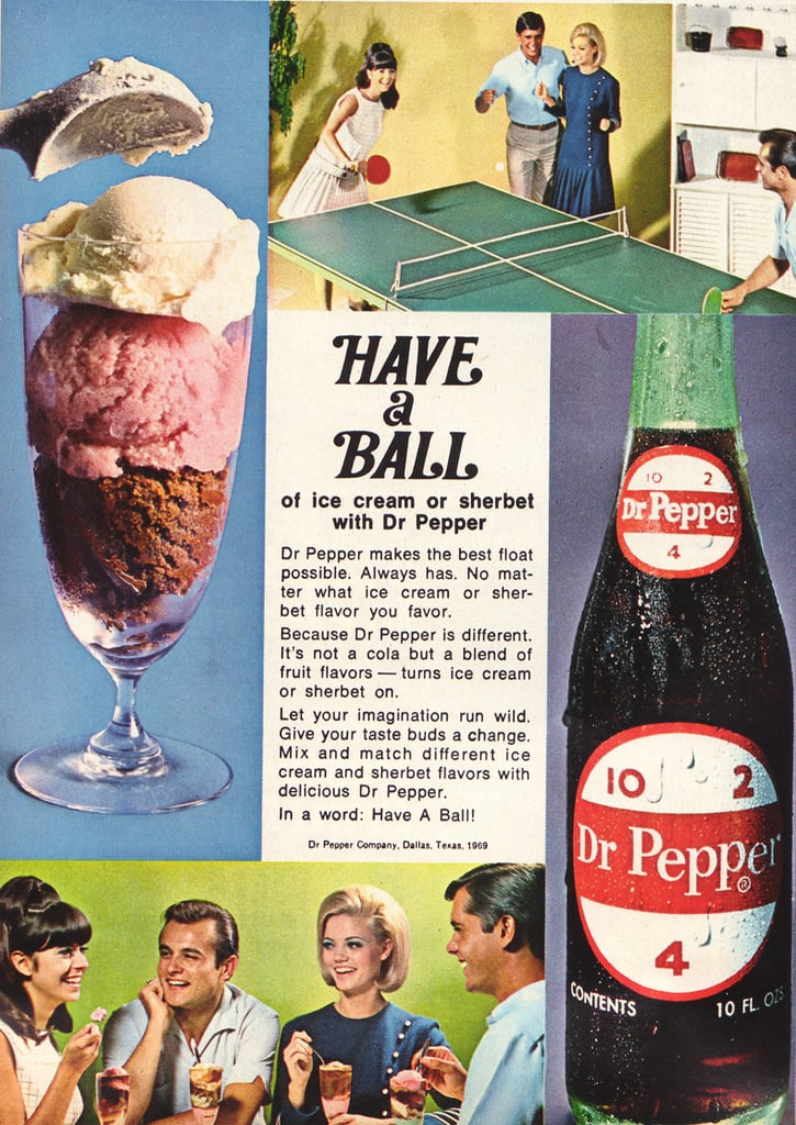 Dr. Pepper floats and ping-pong —sounds like an awesome Summer day to me!