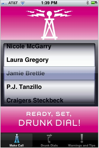 iDrunk Dialer App