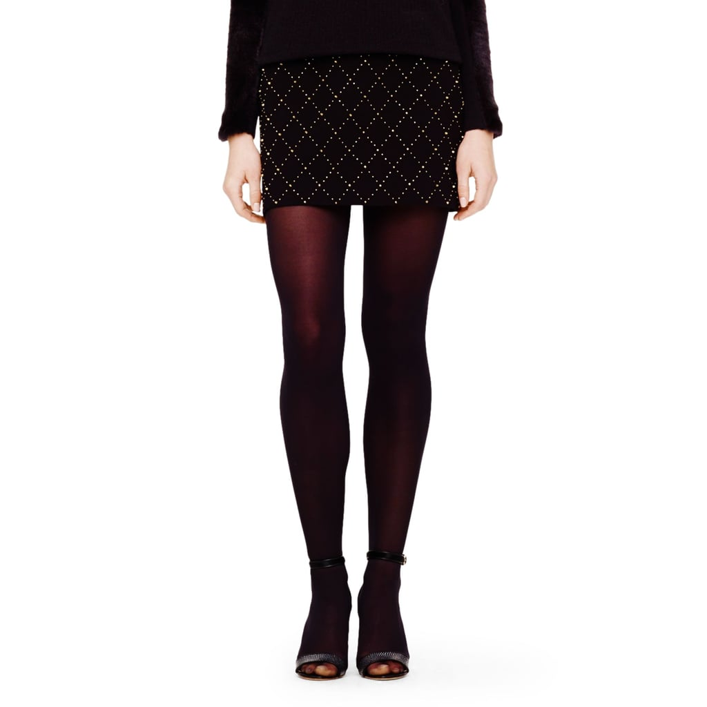 Is Club Monaco's quilted skirt ($199) the perfect Winter mini with its studded lattice and high-contrast hint of sparkle? I'd say so (especially when paired with a sweater and tights!). — RM