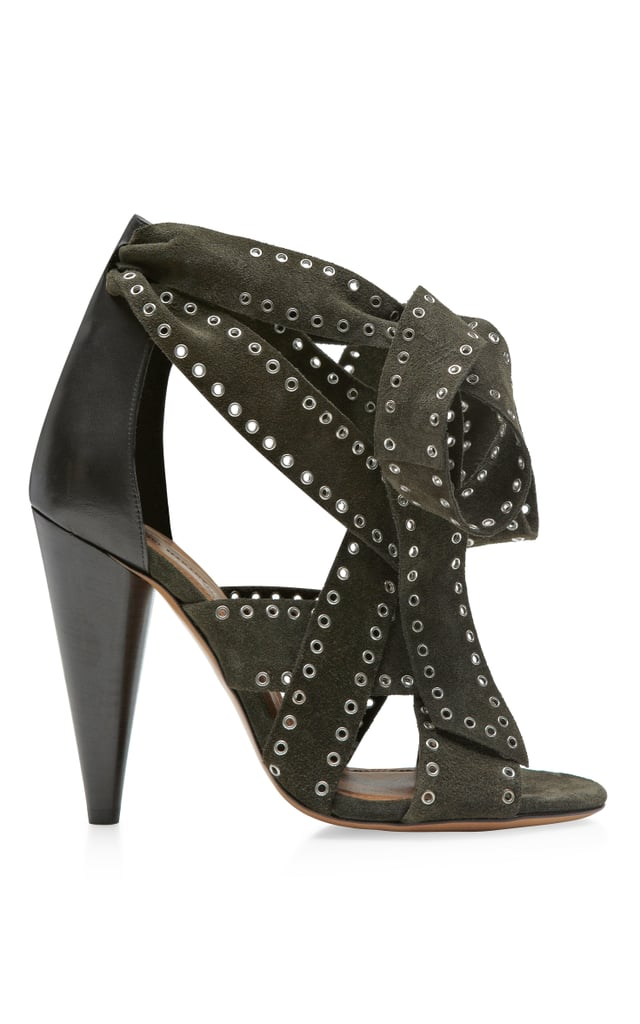 Isabel Marant olive green Anaid shoe ($1,130)