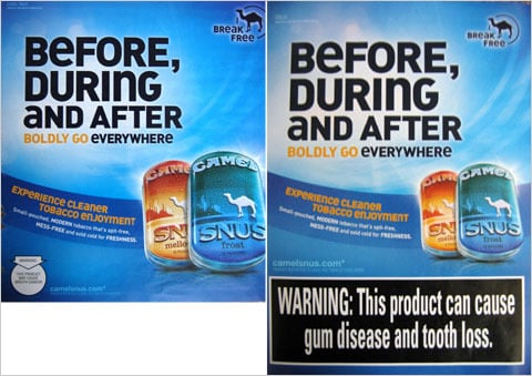 New Warnings on US Smokeless Tobacco Ads Go Into Effect