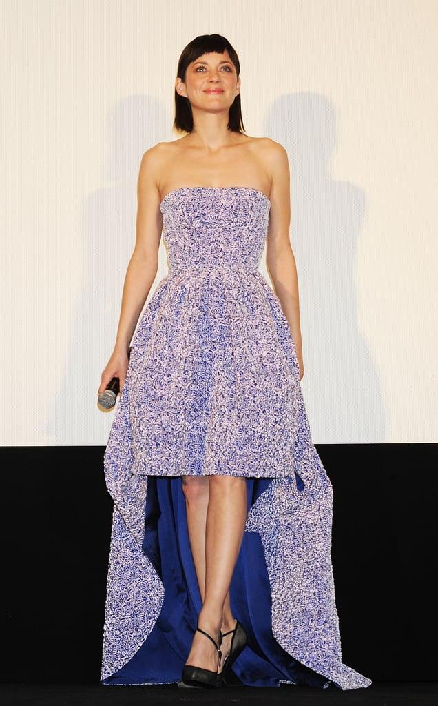 Marion Cotillard in Purple Dior Dress