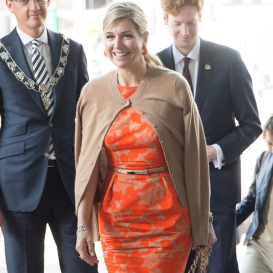 Queen Maxima's Cardigan Trick May 2016