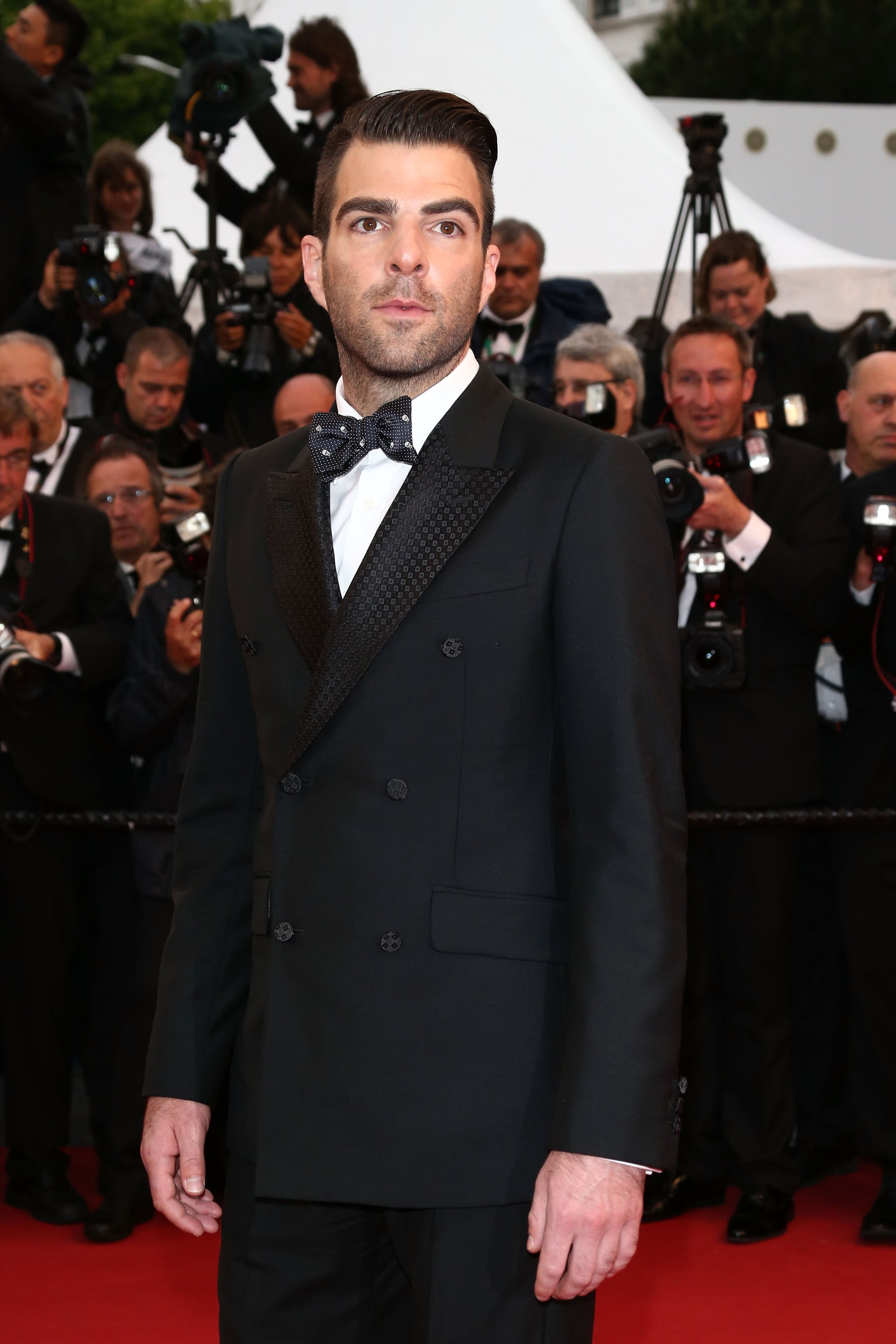 Zachary Quinto was on hand for the All Is Lost premiere in Cannes on Wednesday.