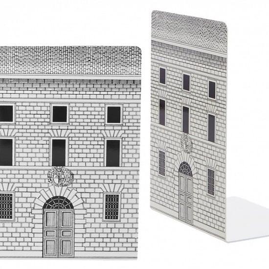 Novel Facade: Fornasetti's Black and White Bookends