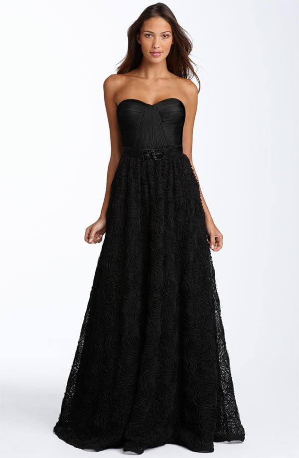 Adrianna Papell pleat bodice rosette ball gown ($238)