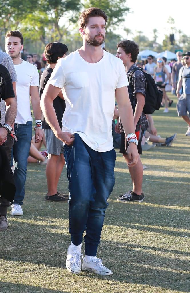Patrick Schwarzenegger looked handsome in 2015.
