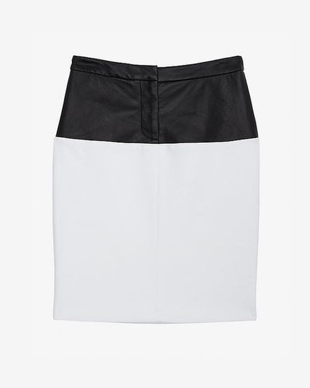 Liven up this sleek Yigal Azrouel Leather Waisted Pencil Skirt ($590) with a printed top for the office and beyond.