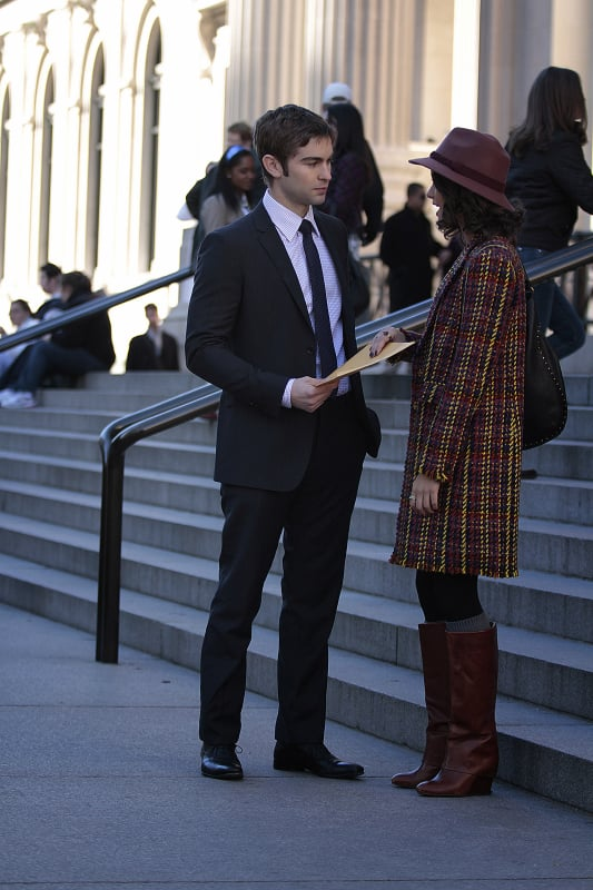 Chace Crawford as Nate and Sofia Black-D'Elia as Sage on Gossip Girl.
