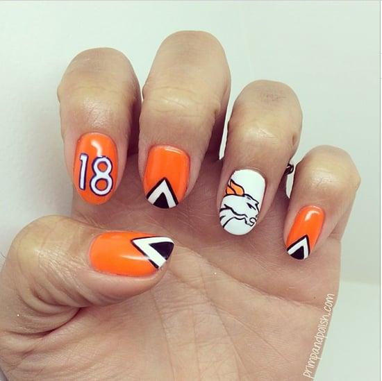 Super Bowl Nail Art Ideas 2014